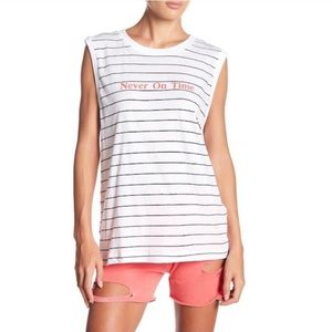 NWT Wildfox Never On Time Top